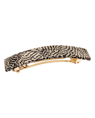 THE FINEST ACCESSORIES GOLD-TONE & COLORED ACETATE HAIR BARRETTE