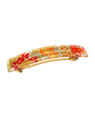 THE FINEST ACCESSORIES MOTTLED CLASSIC RECTANGLE BARRETTE