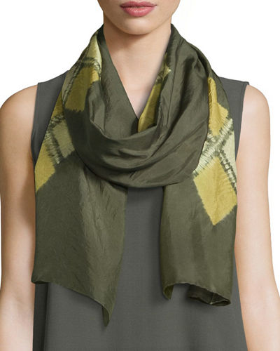 Eileen Fisher SILK SHIBORI EMBLEMS SCARF