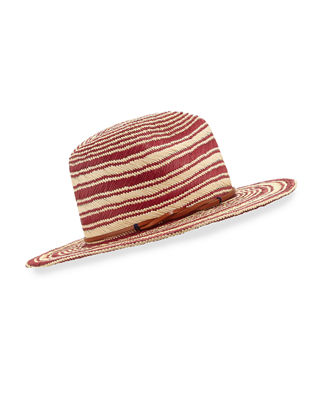 Yestadt Millinery Somba Patterned Straw Fedora Hat