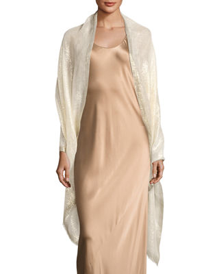 Metallic Linen Evening Wrap
