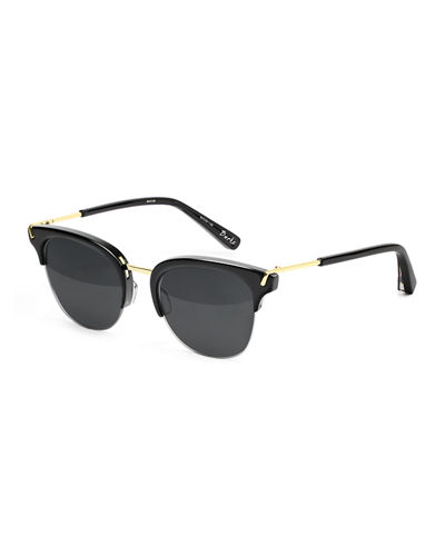Elizabeth and James Burke Semi-Rimless Cat-Eye Sunglasses