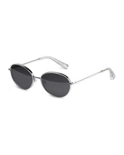 Fenn Metal Oval Sunglasses