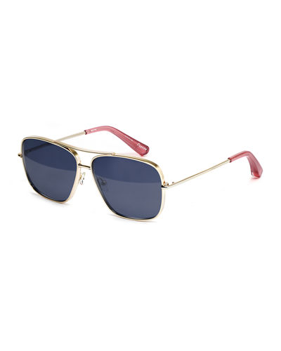 Elizabeth and James Deacon Square Aviator Sunglasses