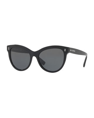 Valentino Garavani Cat-eye Acetate Sunglasses - Black Valentino