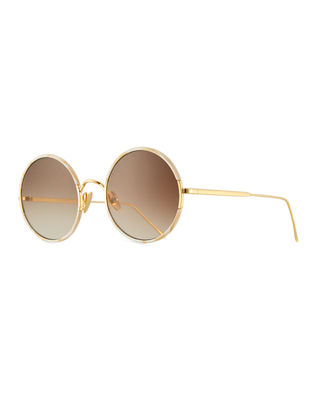 Image 1 of 3: Yetti Round Laser-Cut Sunglasses