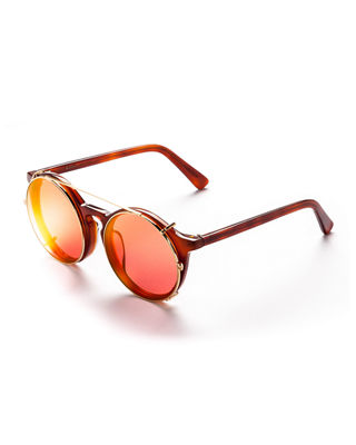 Image 1 of 2: Matahari Round Clip-On Sunglasses