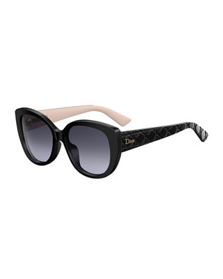 DiorLady1 Oversized Cannage Cat-Eye Sunglasses
