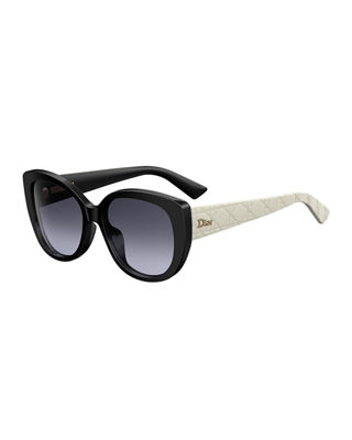 Dior DiorLady1 Oversized Cannage Cat-Eye Sunglasses