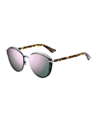 Dior Murmure Round Mirrored Sunglasses