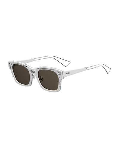 J' Adior Square Graphic Sunglasses