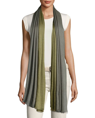 Loro Piana Aylit Pure Two-Tone Stole