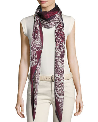 Image 1 of 4: Luci Al Lake Palace Cashmere & Silk Scarf