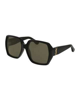 Saint Laurent Oversized Square Monochromatic Sunglasses