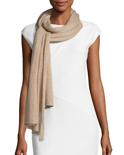 Il Borgo Ribbed Lightweight Metallic Scarf
