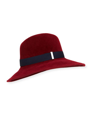 Gigi Burris Requiem Hand-Blocked Wide-Brim Fedora