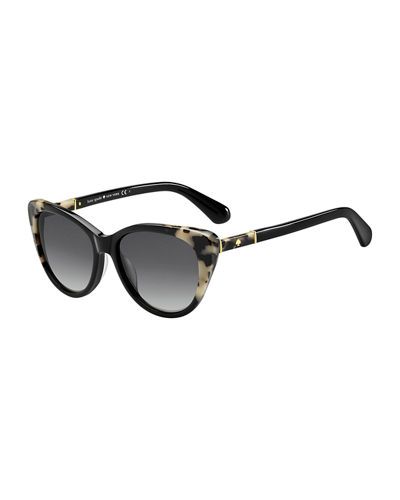 sherylyn two-tone cat-eye sunglasses