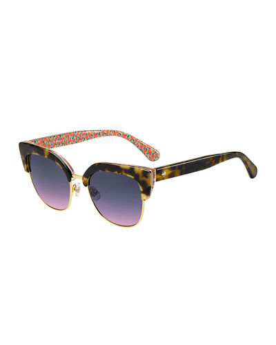 kate spade new york karris square semi-rimless sunglasses
