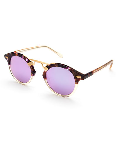 St. Louis Round Mirrored Sunglasses