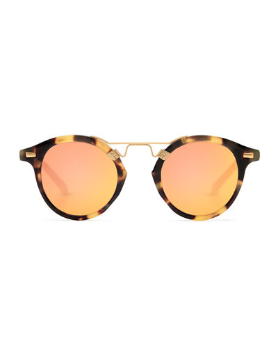 St. Louis Round Mirrored Sunglasse