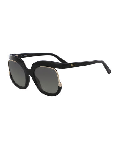 95834bc151 Quick Look. Salvatore Ferragamo · Square Cutout Sunglasses