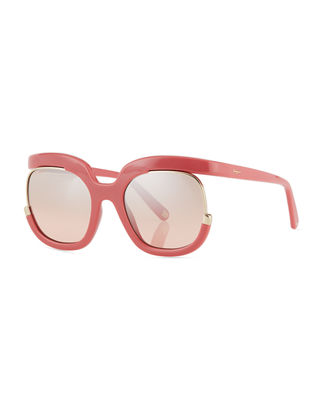 Salvatore Ferragamo Square Cutout Sunglasses