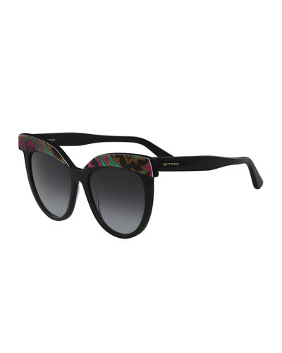 Etro Paisley Cat-Eye Sunglasses