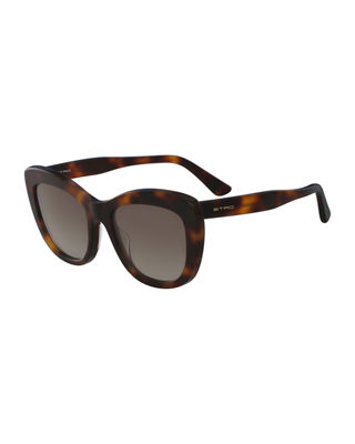 Etro Square Acetate Sunglasses