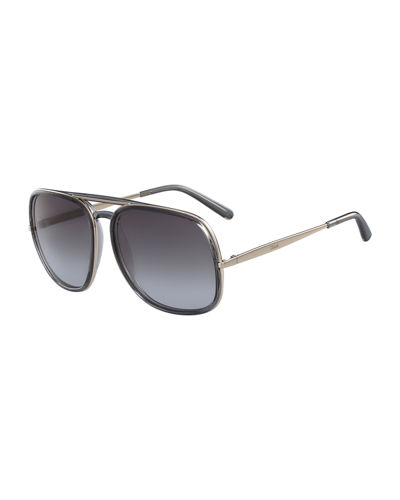 Chloe Square Aviator Sunglasses