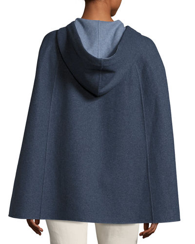 Central Park Zip-Front Hooded Cape