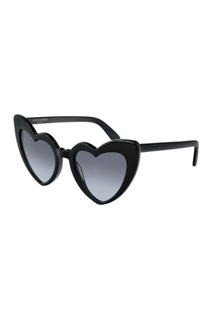 Saint Laurent Lou Lou Oversized Heart Sunglasses