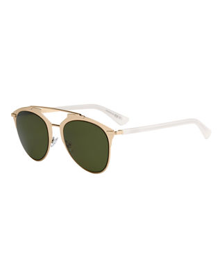 "REFLECTED"" TWO-TONE AVIATOR SUNGLASSES"""