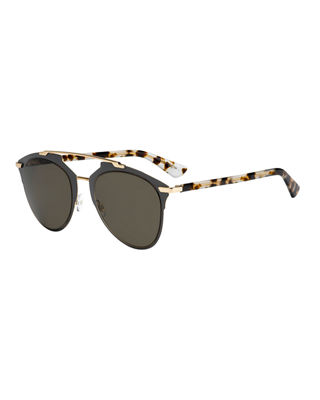 """Dior Reflected"" Peaked Aviator Sunglasses"