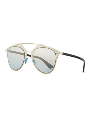 REFLECTED/S REFLECTED EEI 0H LIGHT GOLD BLACK AVIATOR SUNGLASSES
