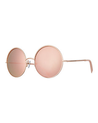 Round Metal Twist Sunglasses
