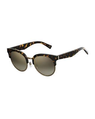 Marc Jacobs Semi-Rimless Cat-Eye Acetate Sunglasses