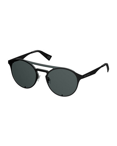 Marc Jacobs Flat Metal Aviator Sunglasses