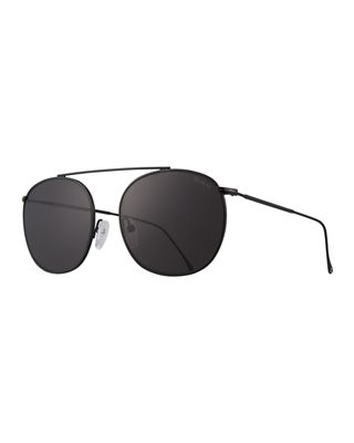 Image 1 of 3: Mykonos II Stainless Steel Aviator Sunglasses