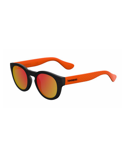 Round Rubber Sunglasses