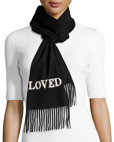 Loved Scarf W/ Pearlescent Detail