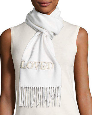 Gucci Loved Scarf W/ Pearlescent Detail