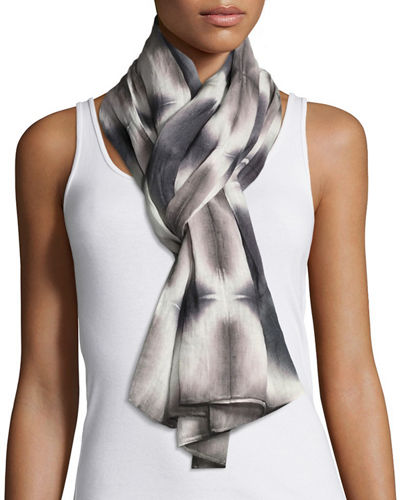 Eileen Fisher Reflections Shibori Linen Scarf