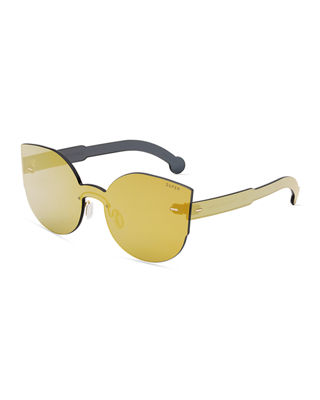 SUPER Tuttolente Lucia Cat-Eye Sunglasses in Gold