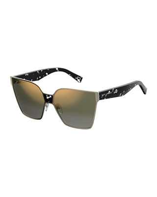 Marc Jacobs Faceted Oversized Square Sunglasses