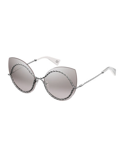 The Marc Jacobs Metal Twist Cat-Eye Sunglasses
