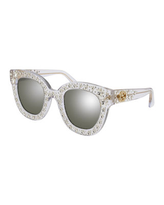 Gucci Square Swarvoski?? Star Sunglasses