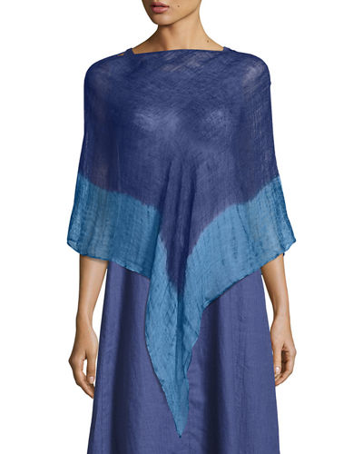 Eileen Fisher Scoop-Neck Stretch Silk Jersey Tunic and