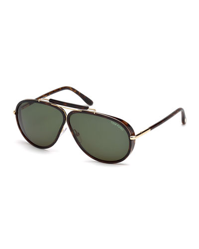 TOM FORD Cedric Oversized Aviator Sunglasses