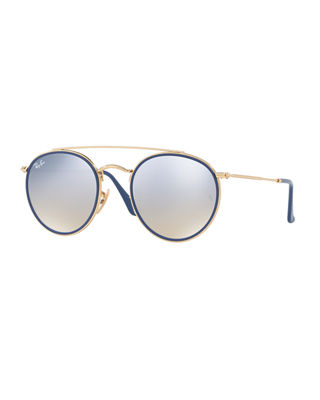 Ray-Ban Flat Lens Sunglasses, Rb3647N, Only At Sunglass Hut in Gold/Pink Mirror
