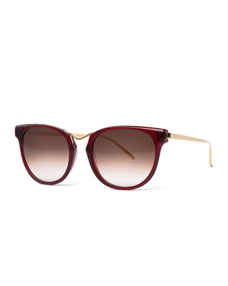 40d7311e89 Thierry Lasry Gummy Oversized Square Sunglasses In Dark Red ...